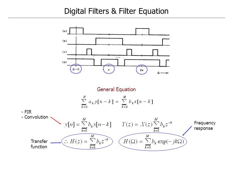 Digital Filters & Filter Equation