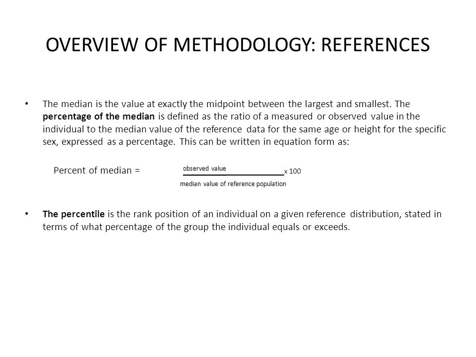 OVERVIEW OF METHODOLOGY: REFERENCES