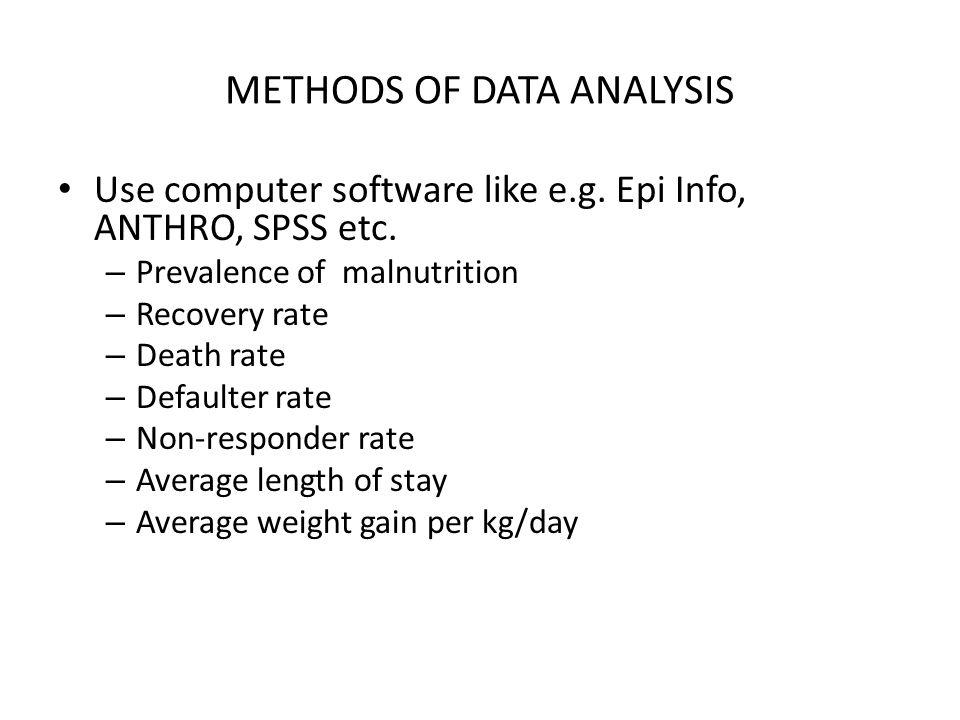 METHODS OF DATA ANALYSIS