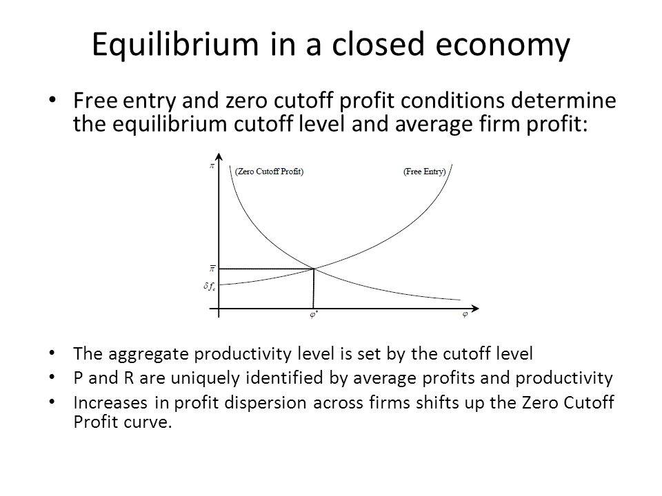 Equilibrium in a closed economy
