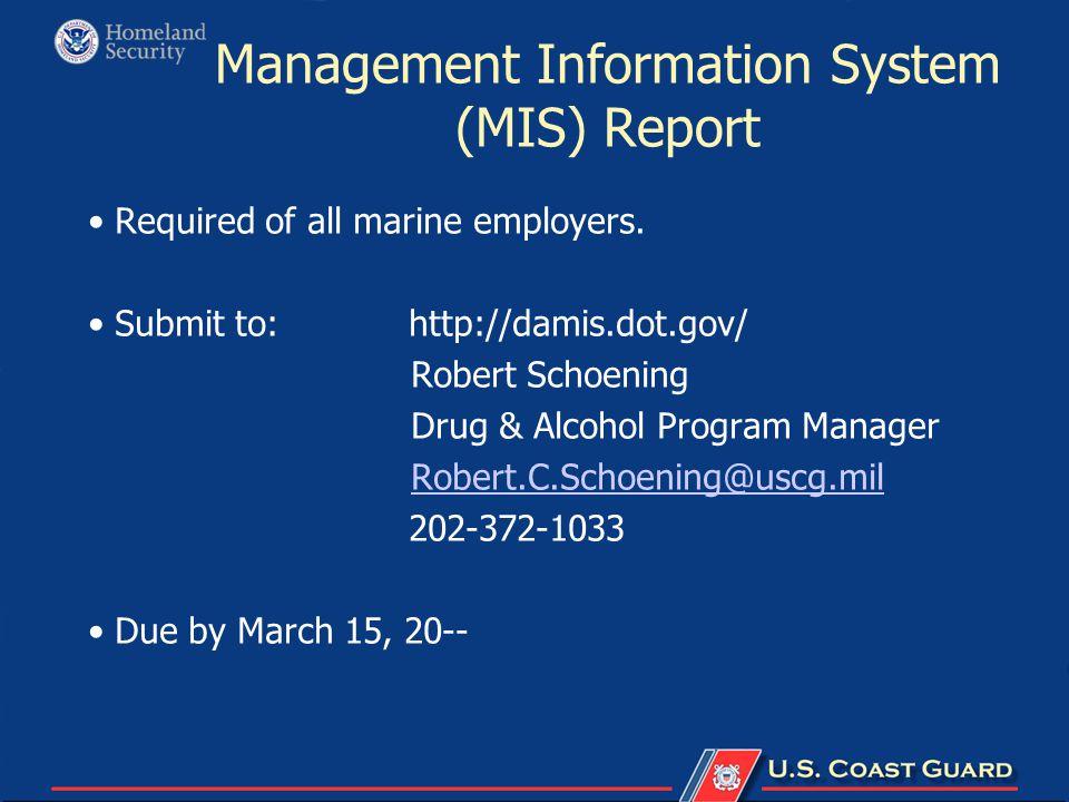 Management Information System (MIS) Report