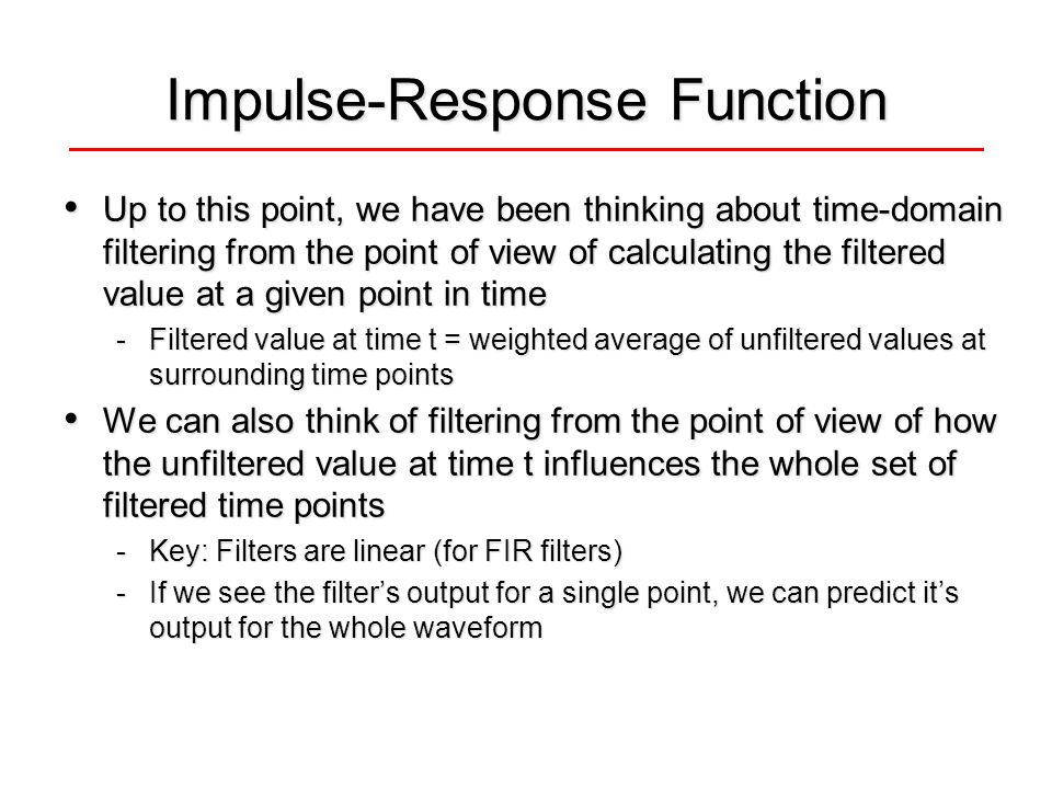 Impulse-Response Function