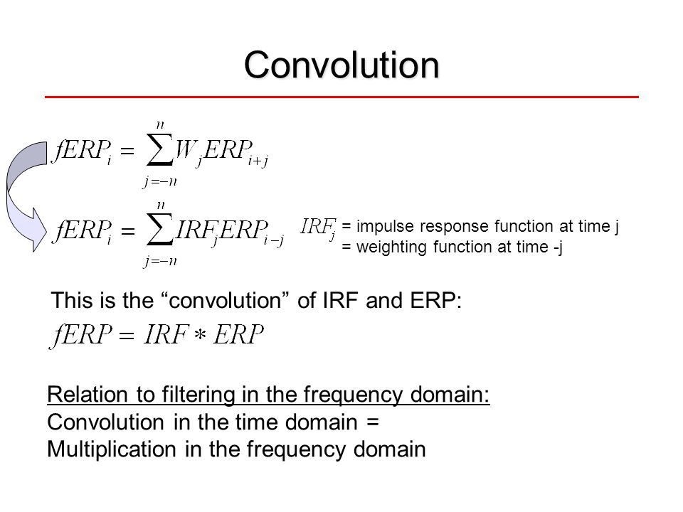 Convolution This is the convolution of IRF and ERP: