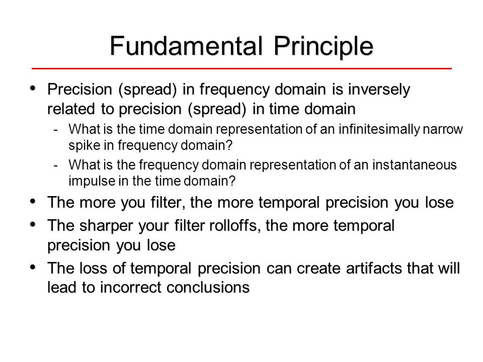 Fundamental Principle