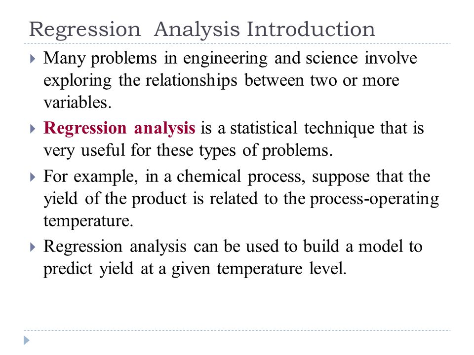 Regression Analysis Introduction