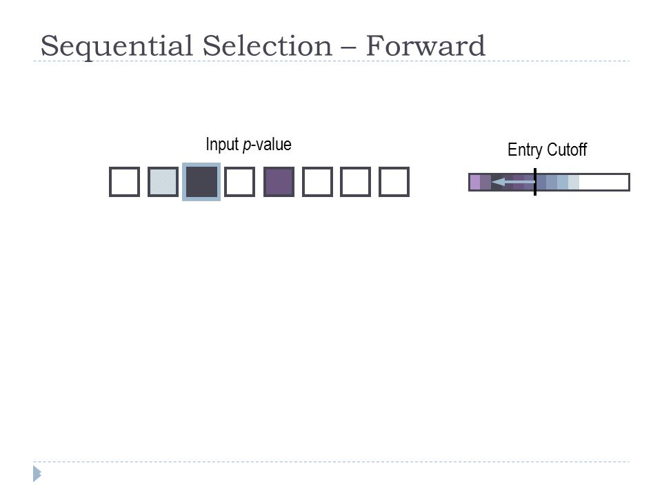 Sequential Selection – Forward