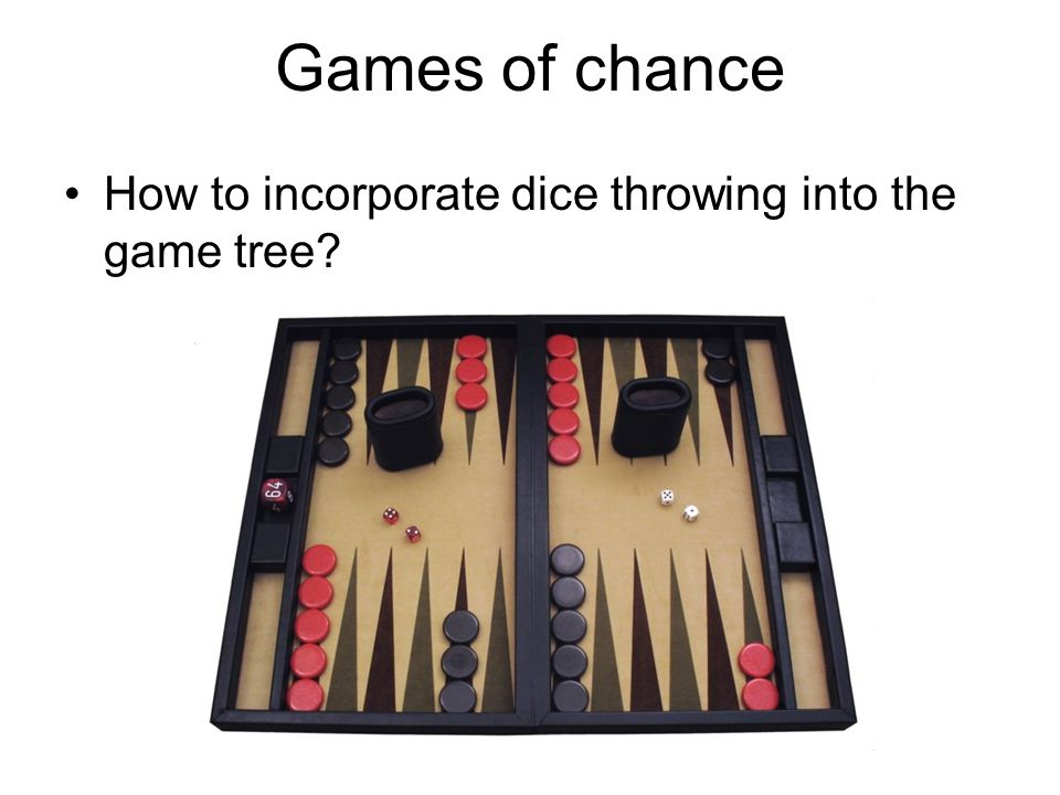 Games of chance How to incorporate dice throwing into the game tree