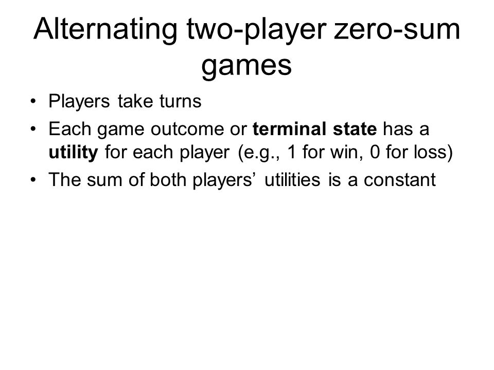 Alternating two-player zero-sum games