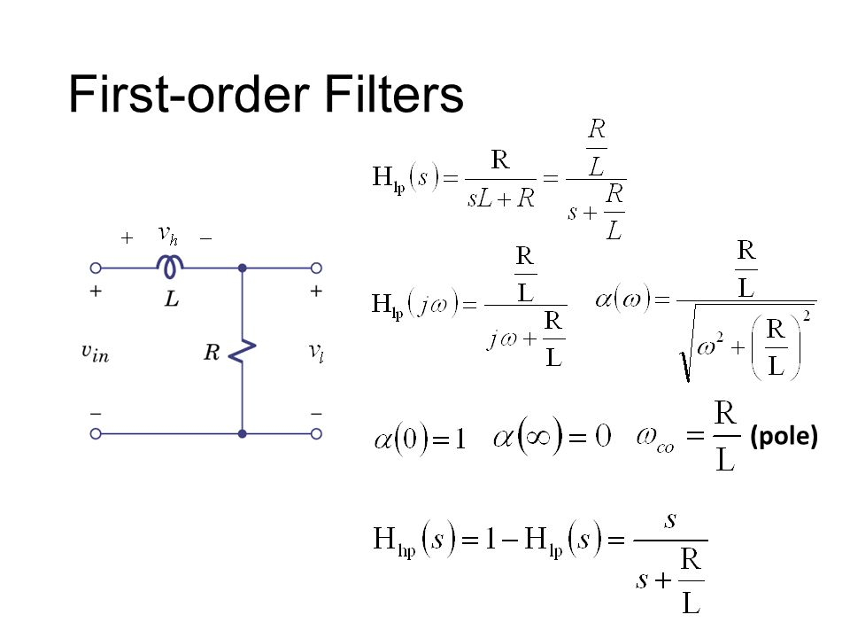 First-order Filters (pole)