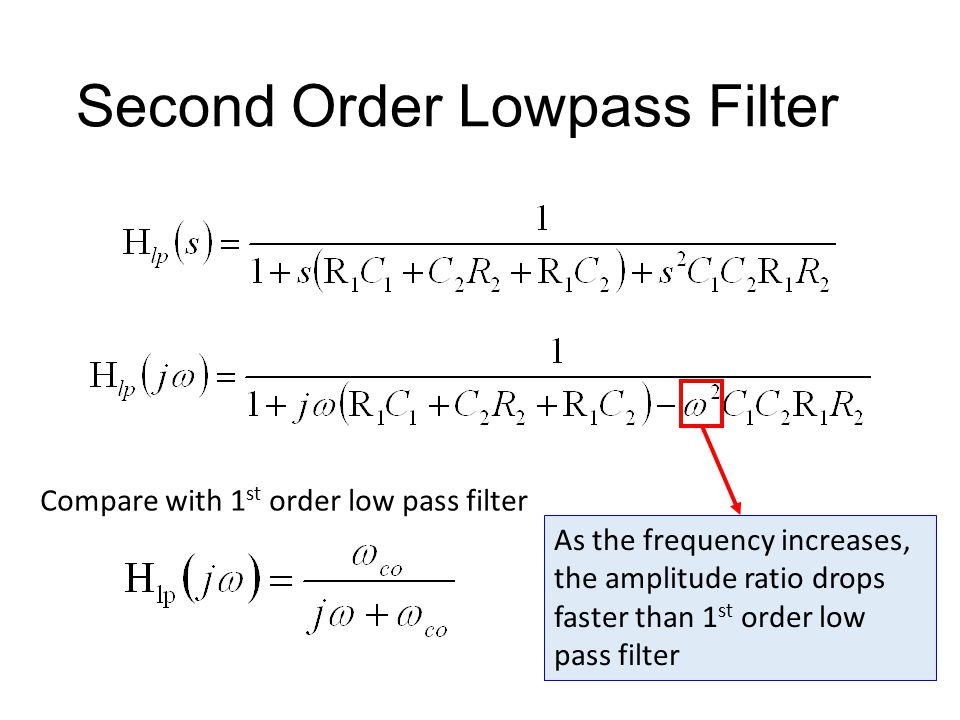 Second Order Lowpass Filter