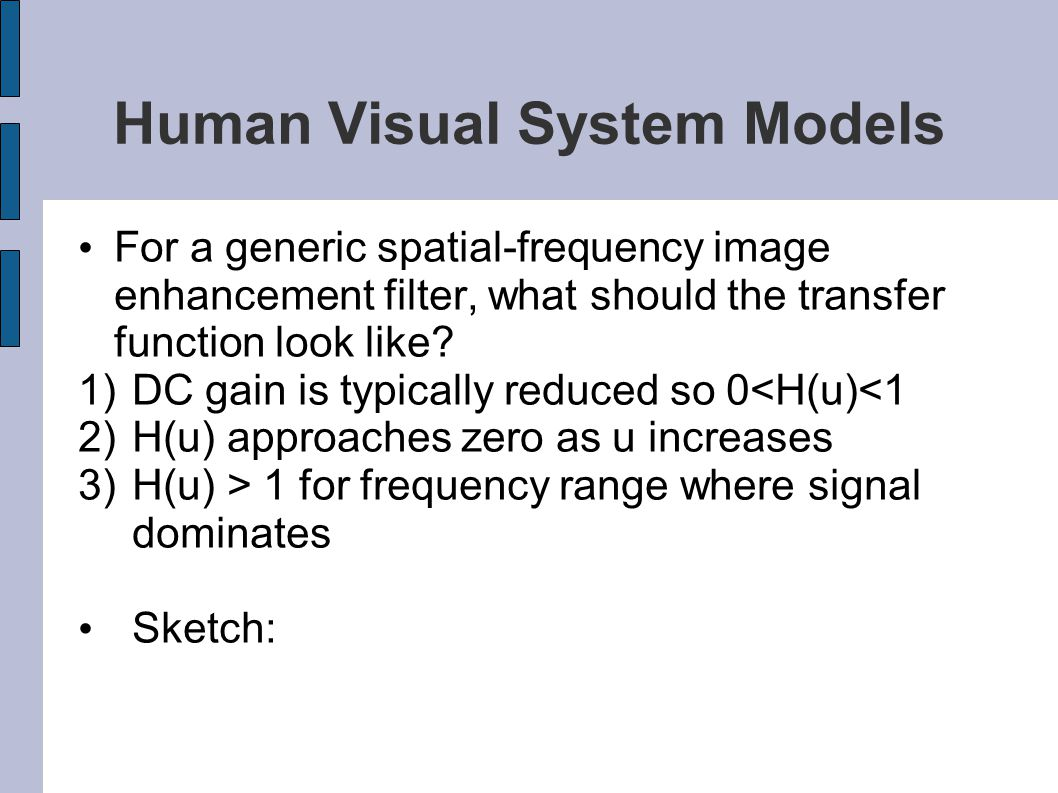 Human Visual System Models
