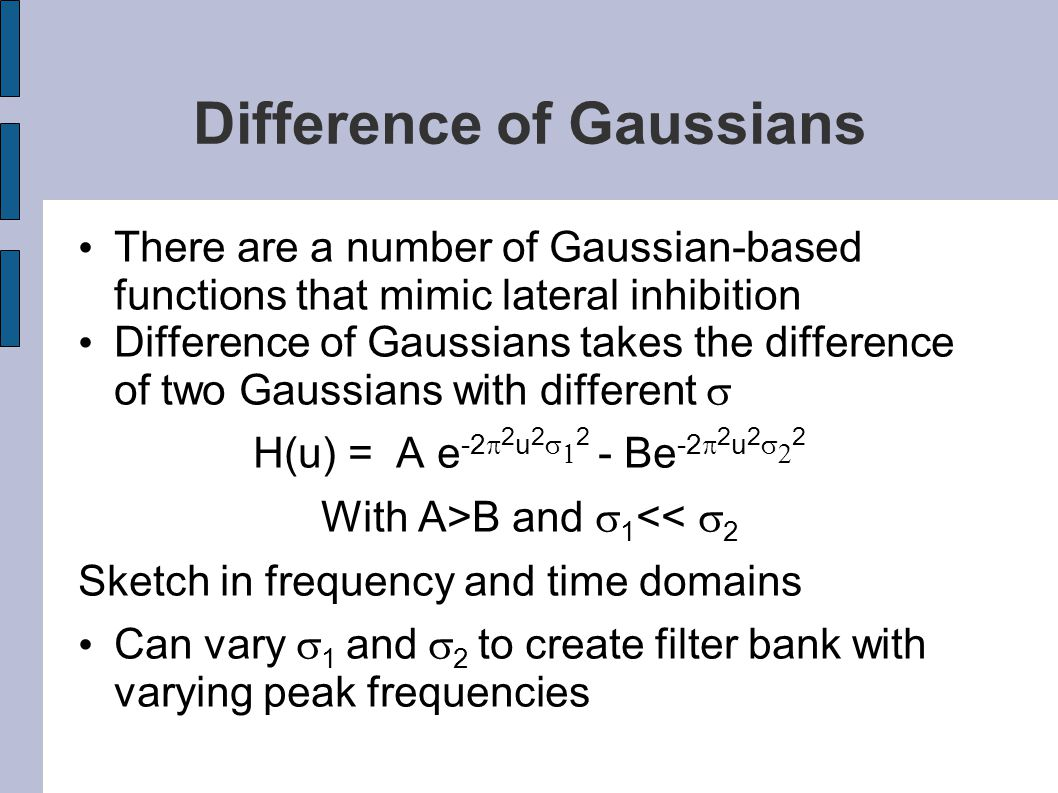Difference of Gaussians