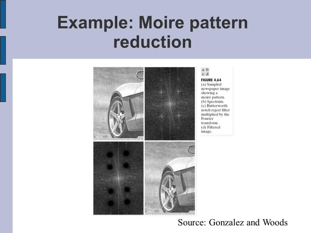Example: Moire pattern reduction