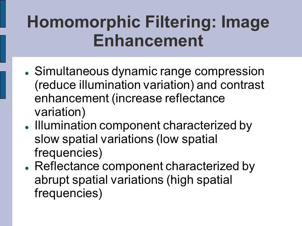 Homomorphic Filtering: Image Enhancement