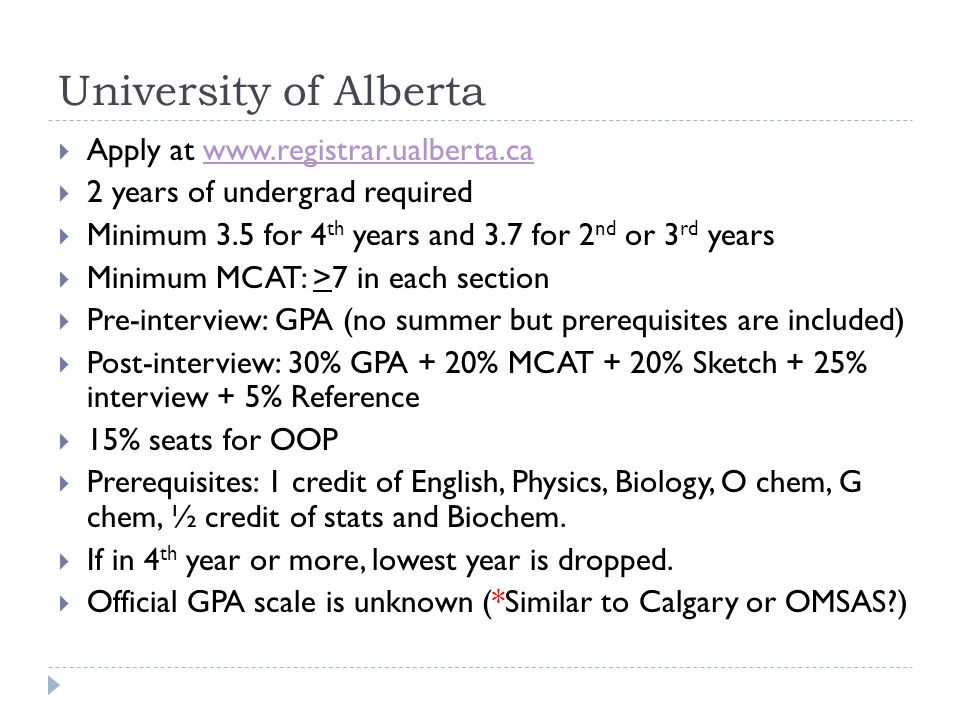 University of Alberta Apply at www.registrar.ualberta.ca