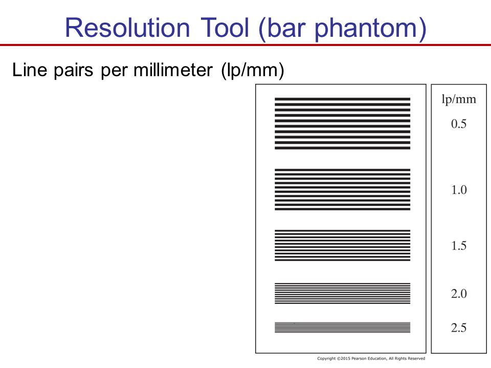 Resolution Tool (bar phantom)