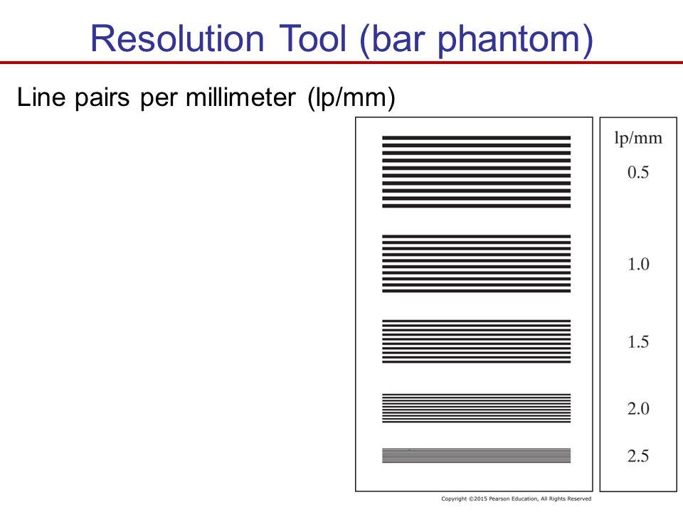Resolution Tool (bar phantom)
