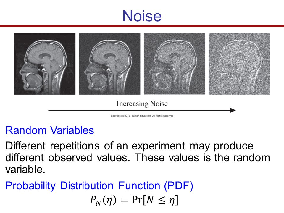 Noise Random Variables