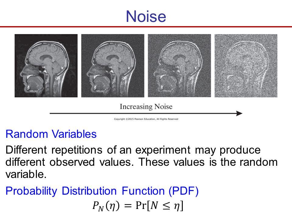 Noise Random Variables