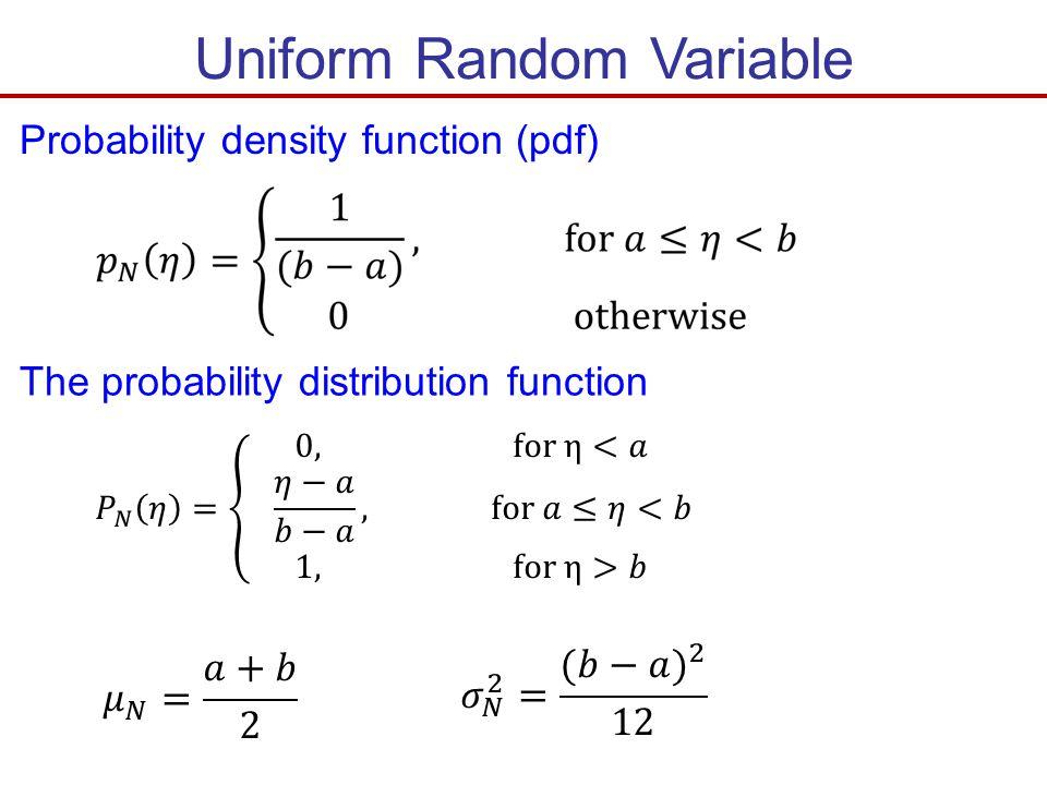 Uniform Random Variable