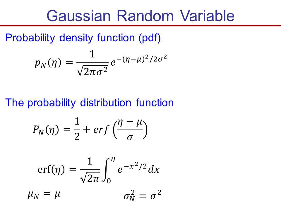 Gaussian Random Variable