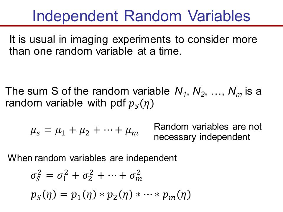 Independent Random Variables