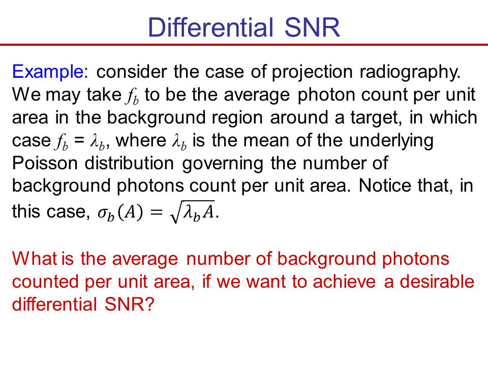 Differential SNR
