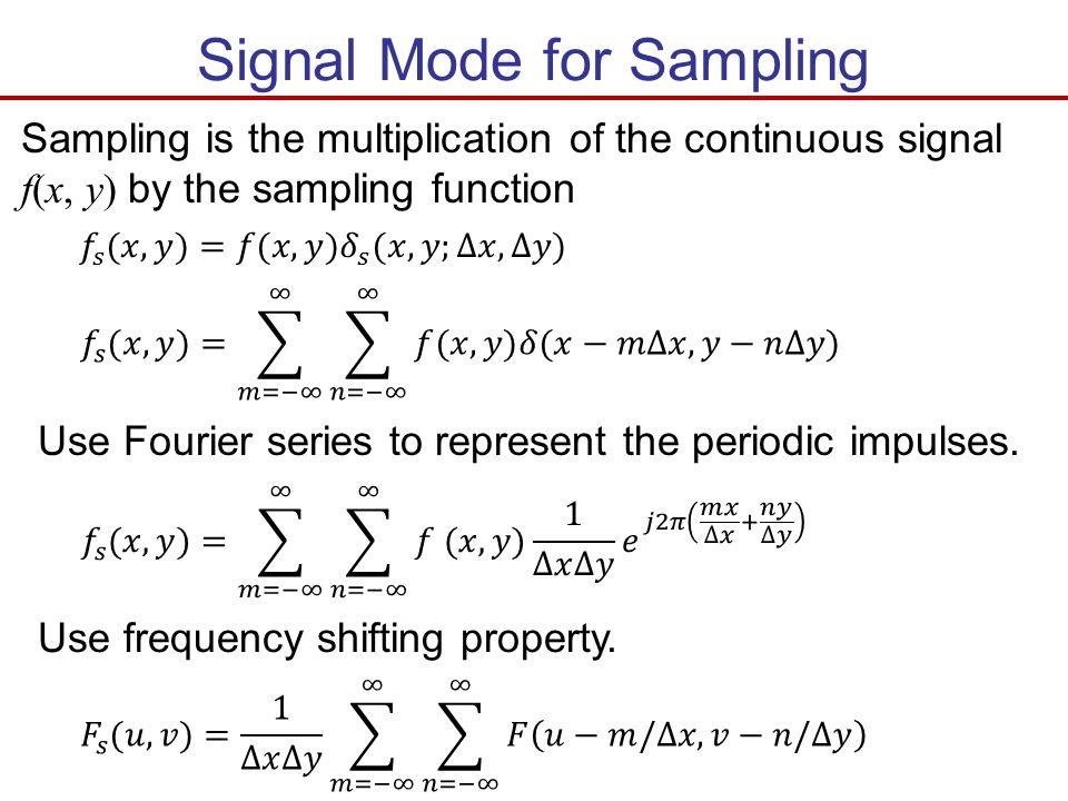 Signal Mode for Sampling