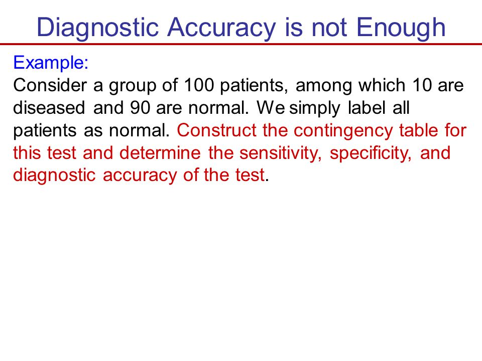 Diagnostic Accuracy is not Enough