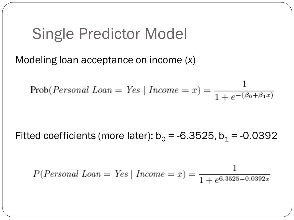 Single Predictor Model