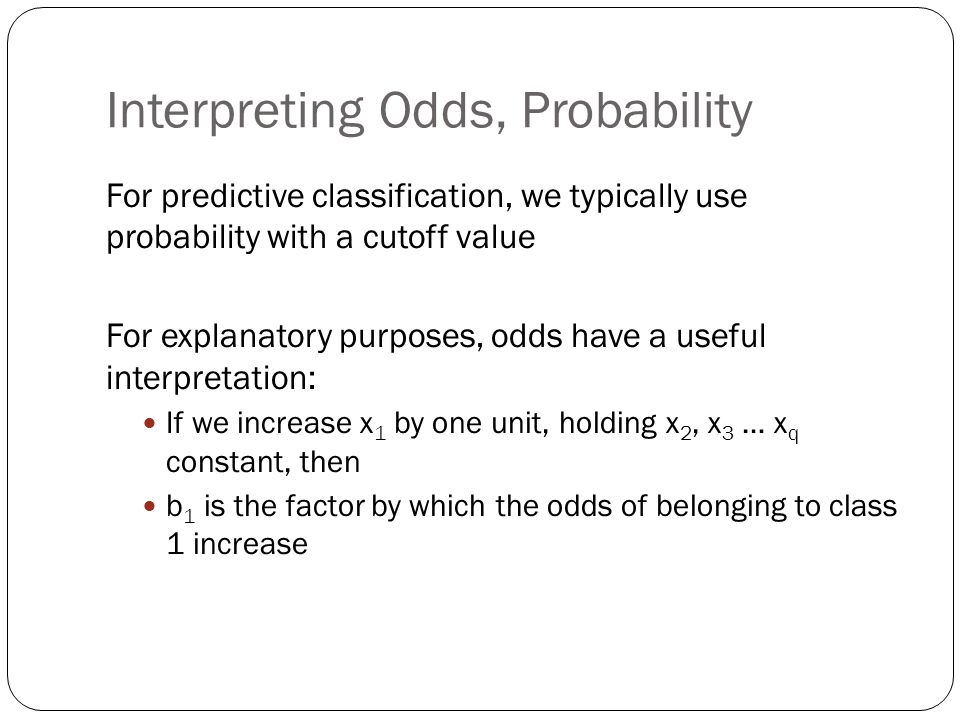 Interpreting Odds, Probability