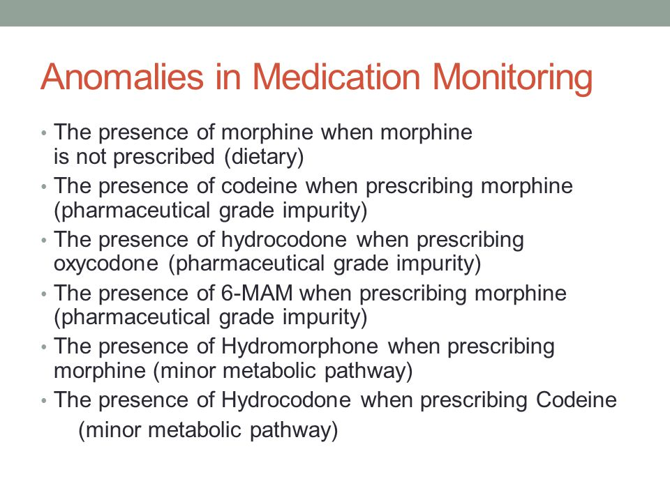 Anomalies in Medication Monitoring