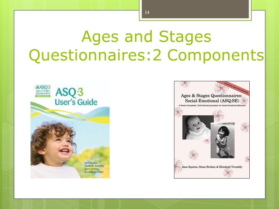 Ages and Stages Questionnaires:2 Components