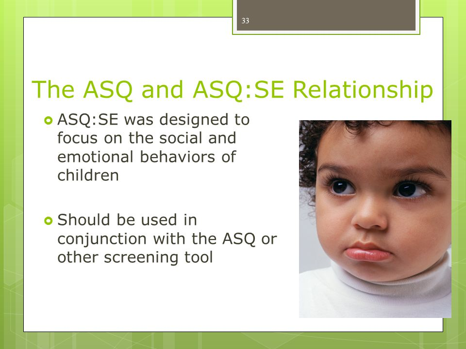 The ASQ and ASQ:SE Relationship