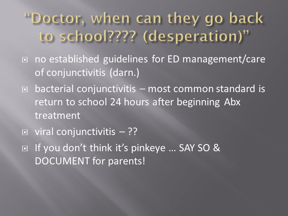 Doctor, when can they go back to school (desperation)