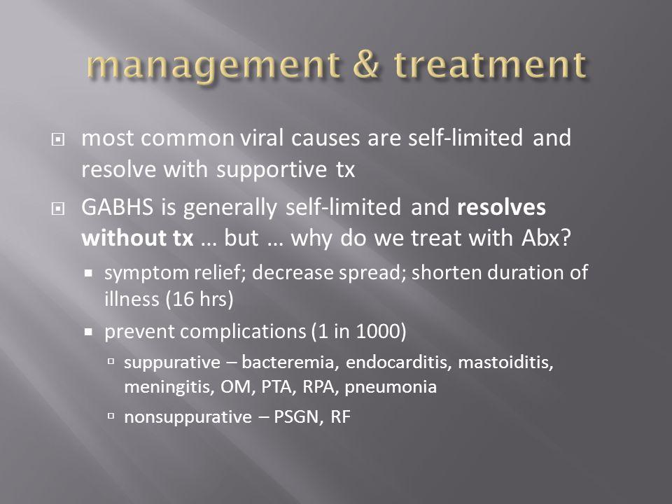 management & treatment