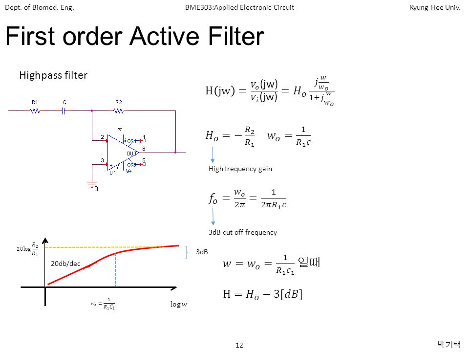 First order Active Filter