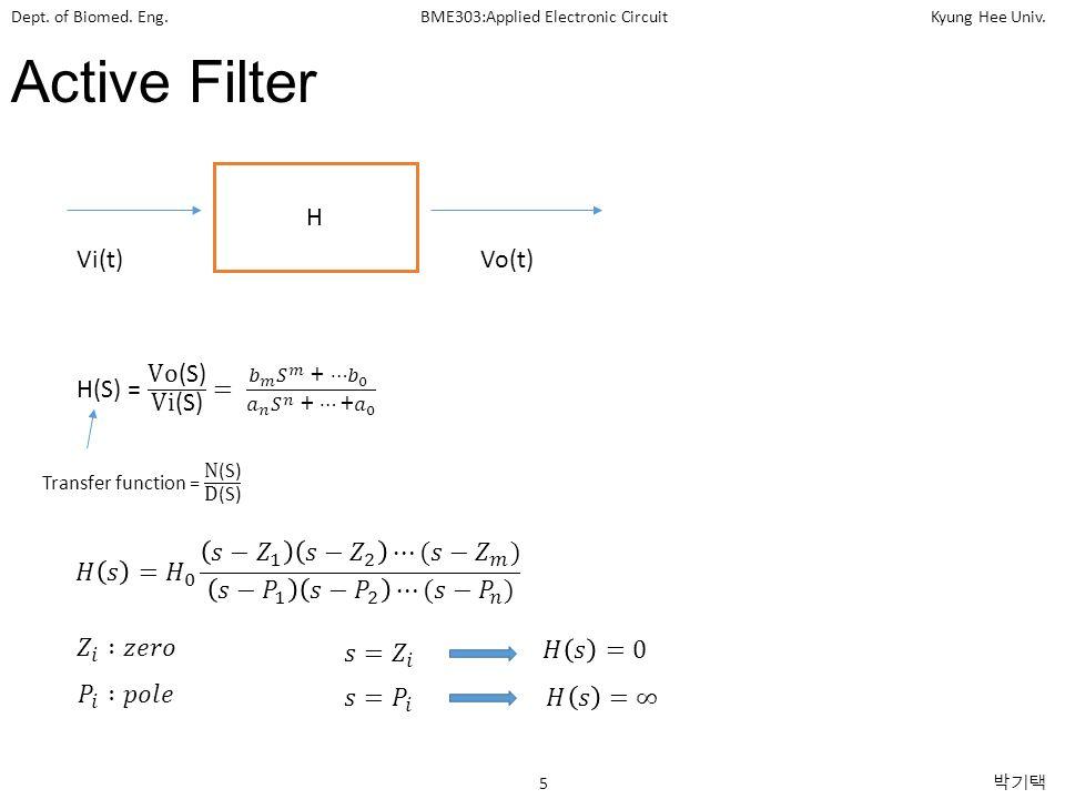 Active Filter H Vi(t) Vo(t)