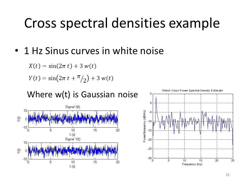 Cross spectral densities example