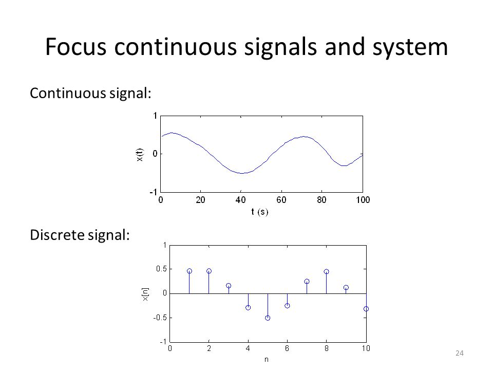 Focus continuous signals and system