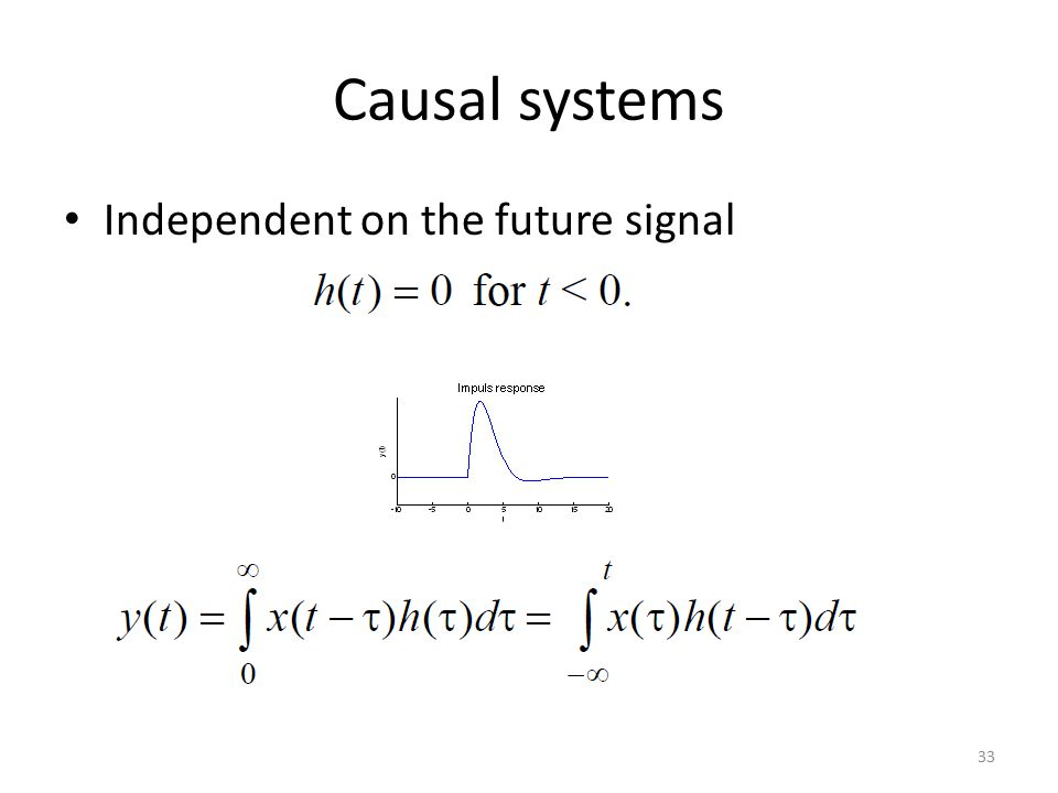 Causal systems Independent on the future signal