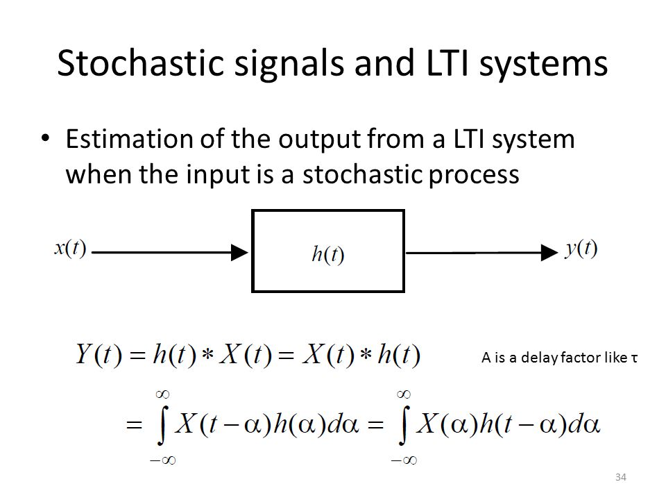 Stochastic signals and LTI systems