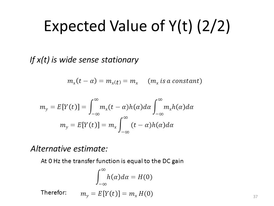 Expected Value of Y(t) (2/2)