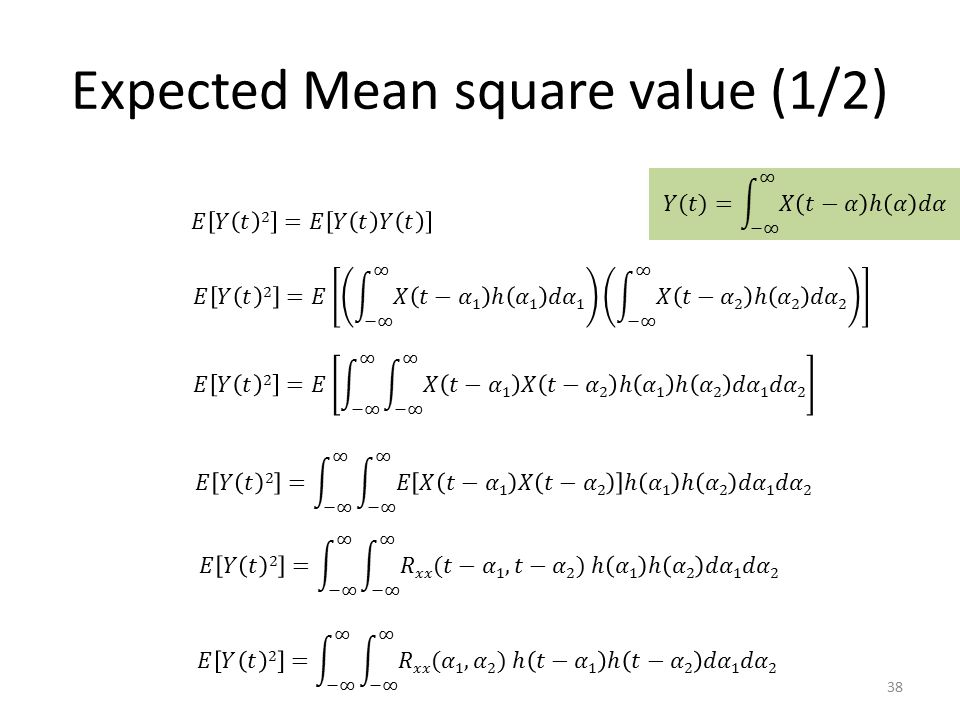 Expected Mean square value (1/2)