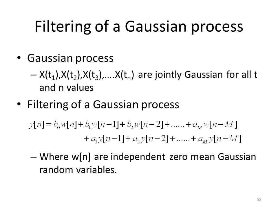 Filtering of a Gaussian process