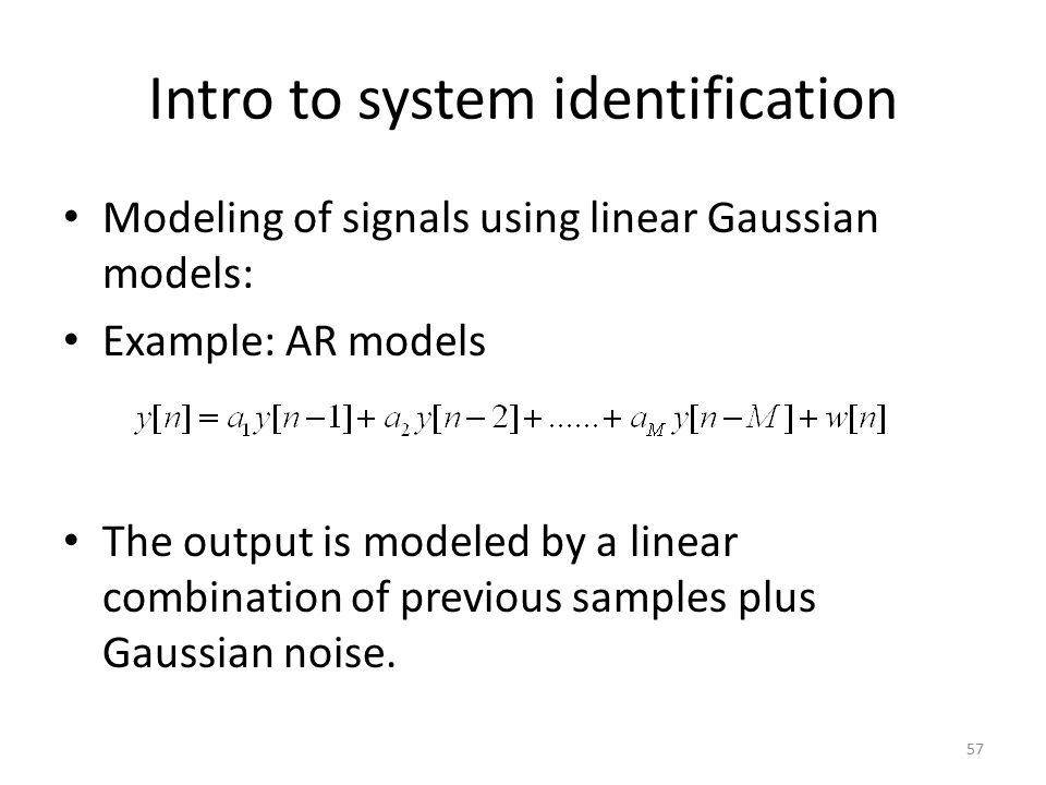 Intro to system identification