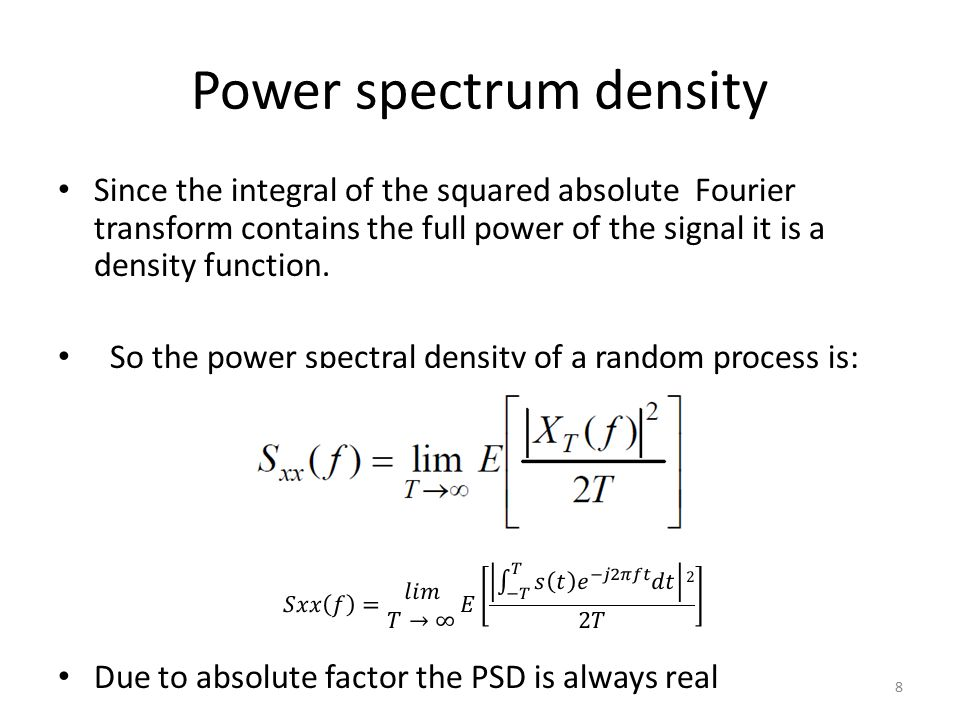 Power spectrum density