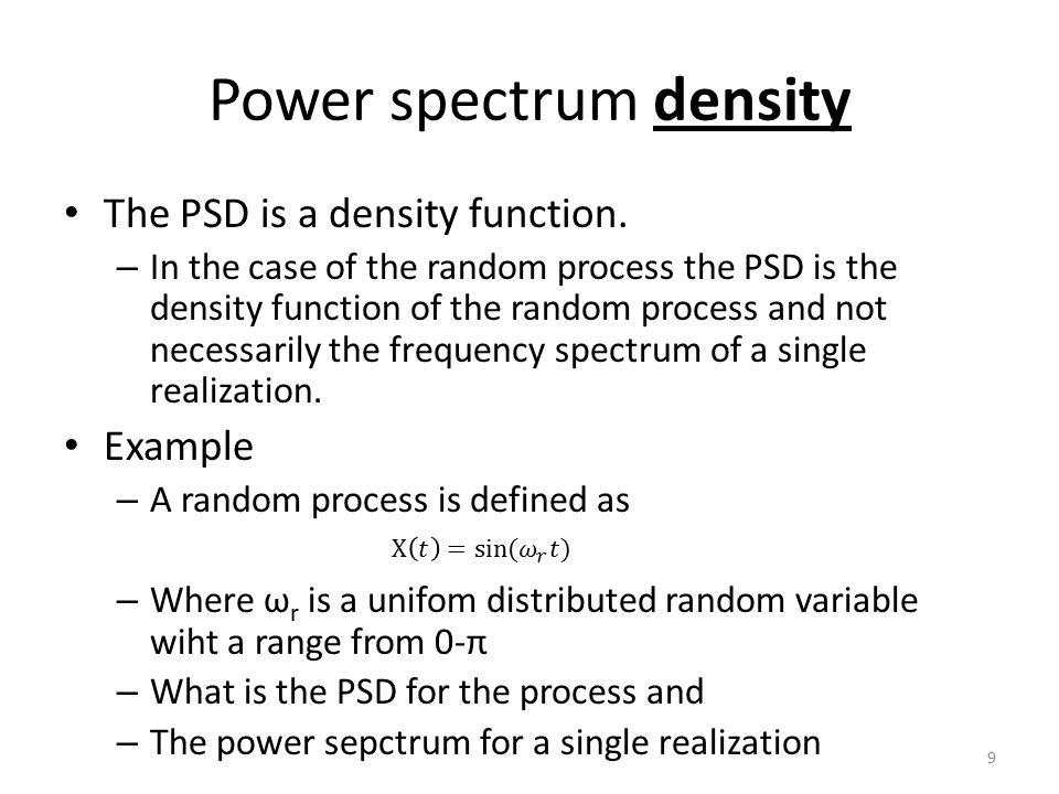 Power spectrum density