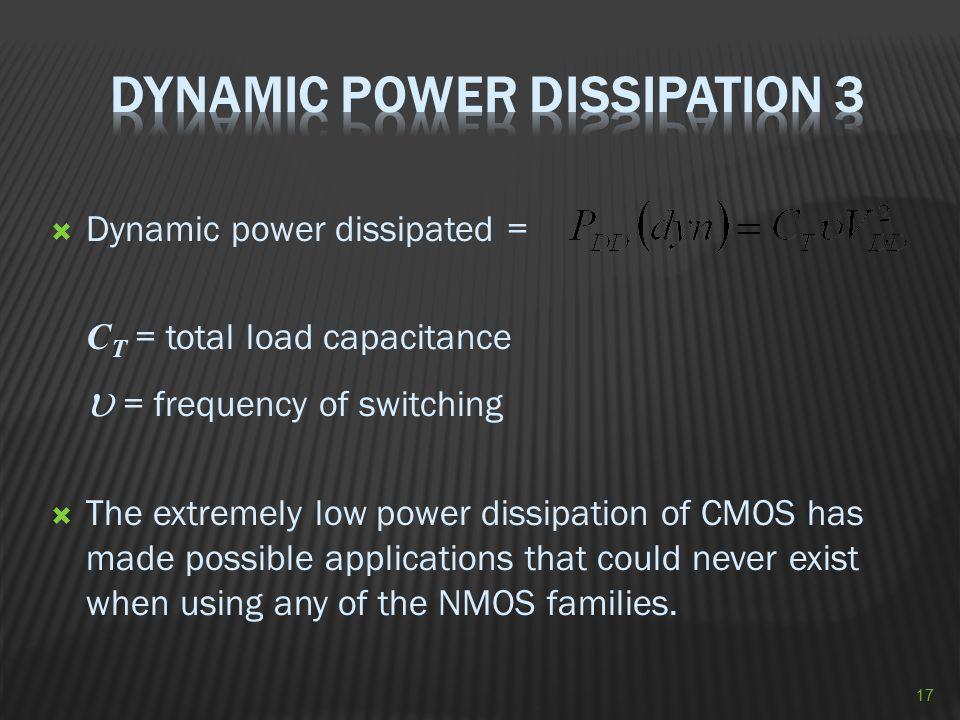 Dynamic Power Dissipation 3