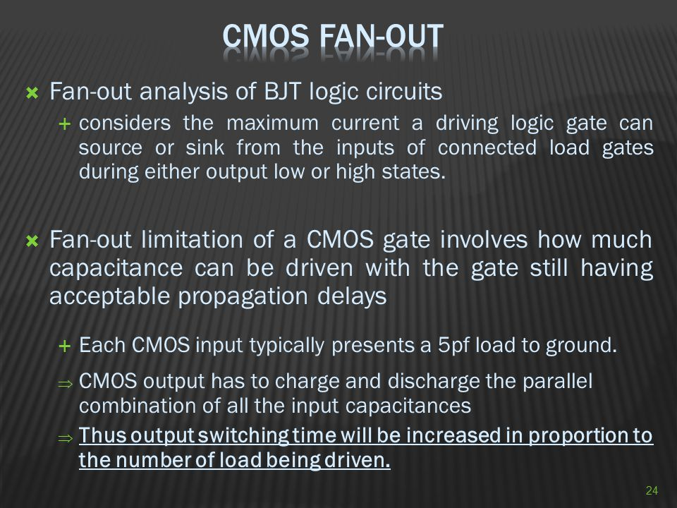 CMOS Fan-Out Fan-out analysis of BJT logic circuits